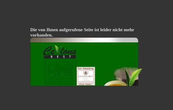 Vorschau von www.ceylonsbest.de, Ceylons Best Tea Company