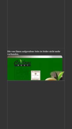 Vorschau der mobilen Webseite www.ceylonsbest.de, Ceylons Best Tea Company