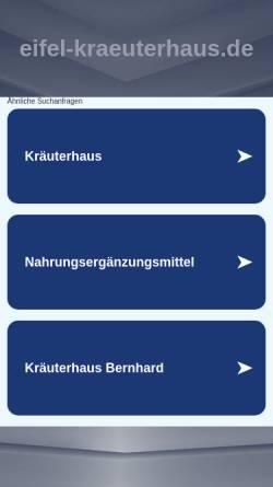 Vorschau der mobilen Webseite www.eifel-kraeuterhaus.de, Eifel Kräuterhaus