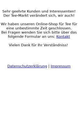 Vorschau der mobilen Webseite www.grafen-tee.de, Grafen-Tee, Aconi GmbH