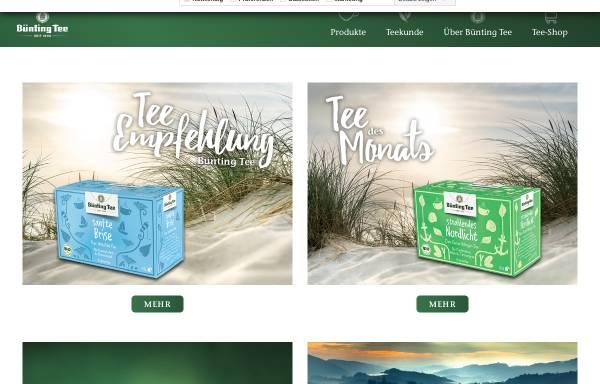 Vorschau von www.buenting-tee.de, Bünting Tee