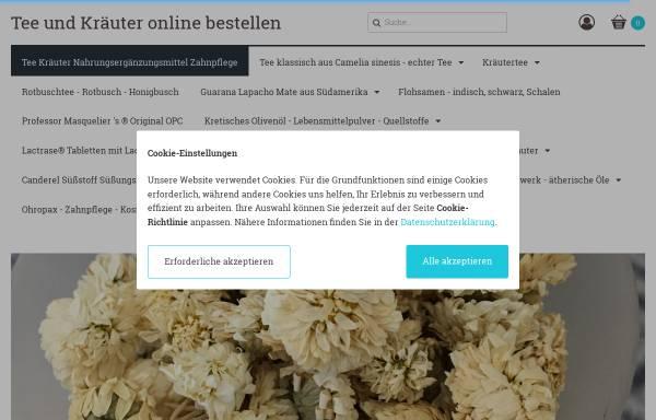 Vorschau von teee.de, Kräuter und Teeversand