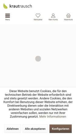Vorschau der mobilen Webseite www.krautrausch.de, Krautrausch, Frank Schneider