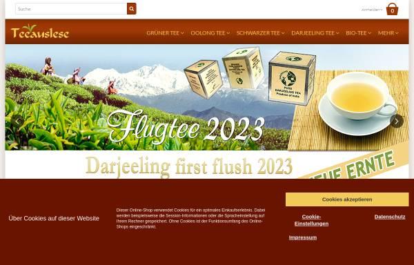 Vorschau von www.teeauslese.de, Manßhardt-Teehandel, Erich Manßhardt