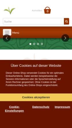 Vorschau der mobilen Webseite www.teeauslese.de, Manßhardt-Teehandel, Erich Manßhardt