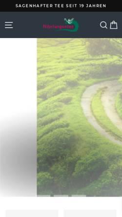 Vorschau der mobilen Webseite www.nibelungentee.de, Nibelungentee, internet-connect GmbH