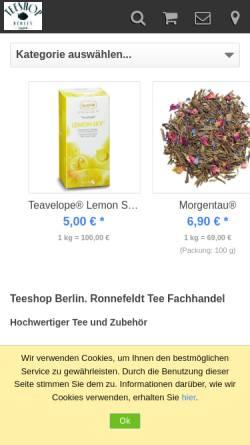 Vorschau der mobilen Webseite www.teeshop-berlin.de, Pralinen Tee'ke
