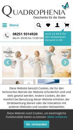 Vorschau der mobilen Webseite www.quadrophenia-shop.de, Quadrophenia, Meike Fricke