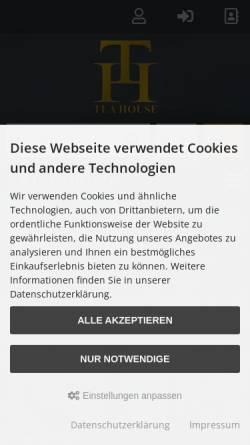 Vorschau der mobilen Webseite www.teahouse.de, Teahouse, Werner Merten