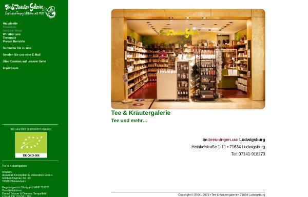 Vorschau von www.tee-undkraeutergalerie.de, Tee- und Kräutergalerie, Marita Lange