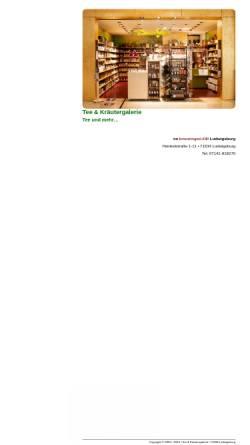 Vorschau der mobilen Webseite www.tee-undkraeutergalerie.de, Tee- und Kräutergalerie, Marita Lange