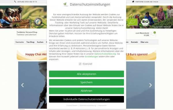 Vorschau von www.teeblaetter.de, Teeblätter-Versand