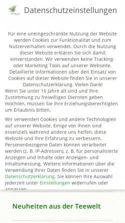 Vorschau der mobilen Webseite www.teeblaetter.de, Teeblätter-Versand