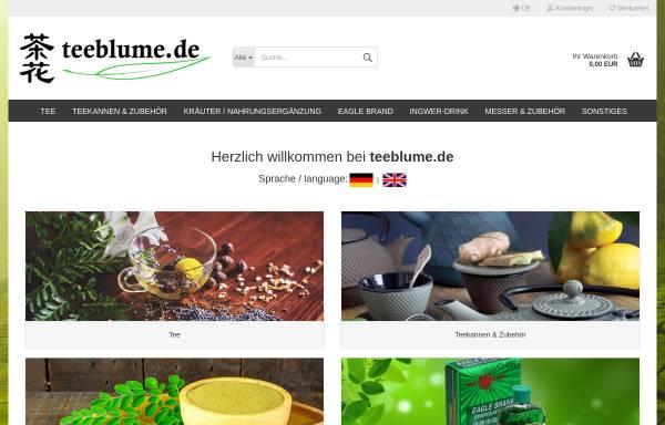 Vorschau von www.teeblume.de, Teeblume UG