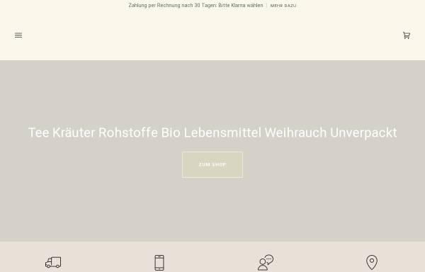 Vorschau von www.teefischer.ch, Tee Fischer, Armin Fischer