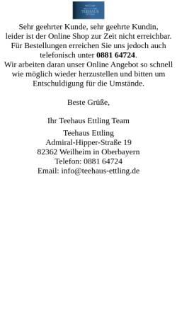 Vorschau der mobilen Webseite www.teaeasybuy.de, Teehaus Ettling