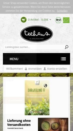 Vorschau der mobilen Webseite www.teehaus-weber.de, Teehaus Weber GbR