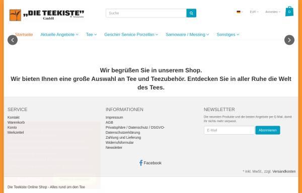 Vorschau von www.teekiste.com, Die Teekiste GmbH