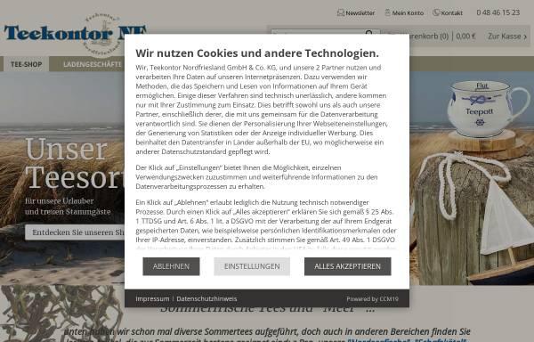Vorschau von www.teekontor-nf.de, Teekontor Nordfriesland