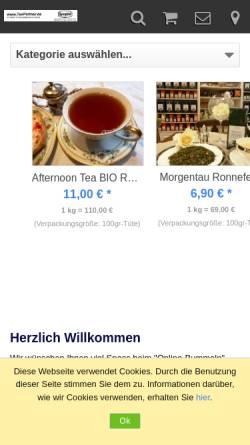 Vorschau der mobilen Webseite shop.strato.de, TeePartner.de