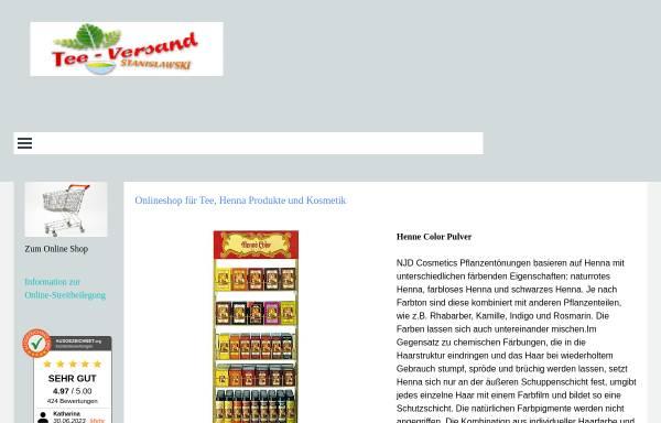 Vorschau von www.tea-versand.de, Teeversand Stanislawski, Roland Stanislawski
