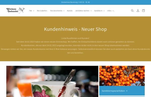 Vorschau von tee-aus-ostfriesland.de, Wäckens Teehandel, Berend Wäcken
