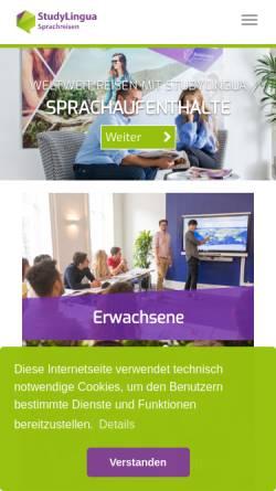 Vorschau der mobilen Webseite www.experience-sprachreisen.de, Experience! Sprachreisen GmbH