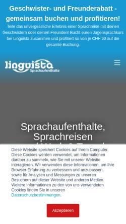 Vorschau der mobilen Webseite www.linguista.ch, Linguista Sprachaufenthalte