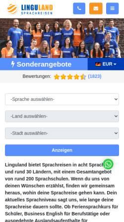 Vorschau der mobilen Webseite www.linguland.com, Linguland