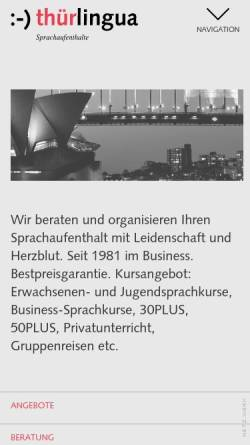 Vorschau der mobilen Webseite www.thurlingua.ch, Thür Lingua AG