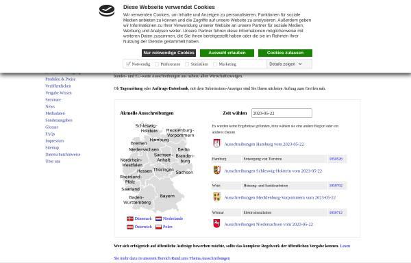 Vorschau von www.submission.de, Submissions-Anzeiger Verlag GmbH