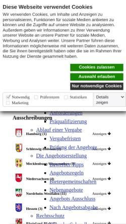 Vorschau der mobilen Webseite www.submission.de, Submissions-Anzeiger Verlag GmbH