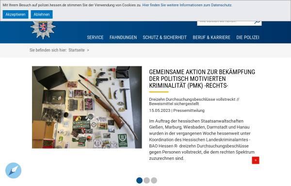 Vorschau von www.polizei.hessen.de, Polizei Hessen