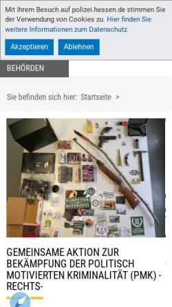 Vorschau der mobilen Webseite www.polizei.hessen.de, Polizei Hessen