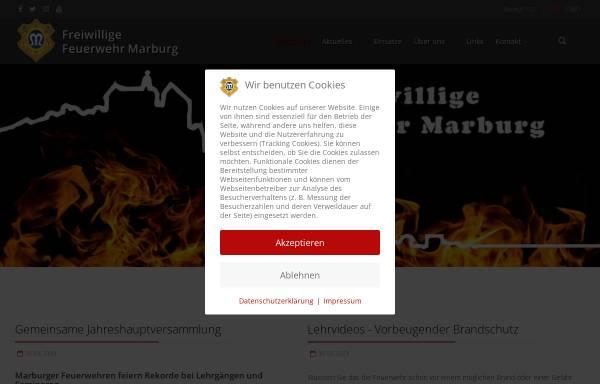 Vorschau von www.feuerwehr-marburg.de, Freiwillige Feuerwehr Marburg