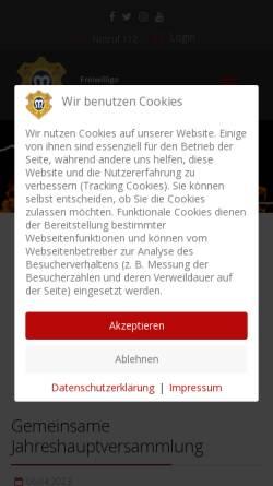 Vorschau der mobilen Webseite www.feuerwehr-marburg.de, Freiwillige Feuerwehr Marburg