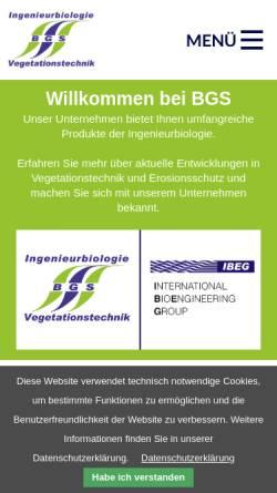 Vorschau der mobilen Webseite www.bestmann-green-systems.de, BGS Ingenieurbiologie und -ökologie GmbH