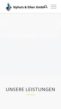 Vorschau der mobilen Webseite www.fassadenplaner.de, Nyhuis & Eiker GmbH