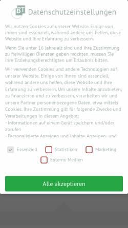 Vorschau der mobilen Webseite www.bt.de, BT Verlag GmbH