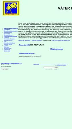 Vorschau der mobilen Webseite www.vaeterfuerkinder.de, Väter für Kinder e.V. - Homepage