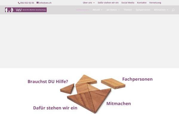 Vorschau von www.vev.ch, Verantwortungsvoll erziehende Väter