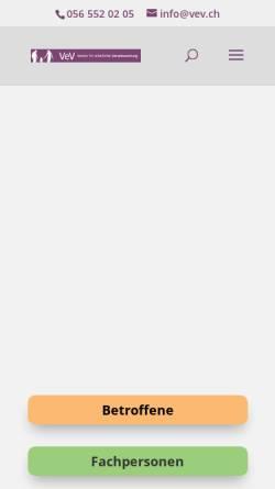 Vorschau der mobilen Webseite www.vev.ch, Verantwortungsvoll erziehende Väter