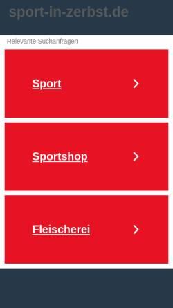 Vorschau der mobilen Webseite www.psv-anhalt-zerbst.de, Polizeisportverein Anhalt-Zerbst e.V.