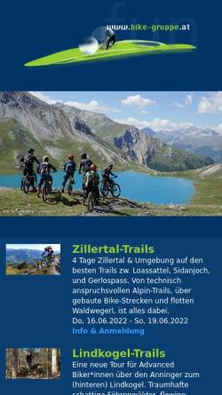 Vorschau der mobilen Webseite www.bike-gruppe.at, Bike-Gruppe