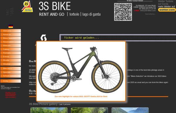 Vorschau von www.3s-bike.com, Mountainbike-Verleih in Torbole am Gardasee