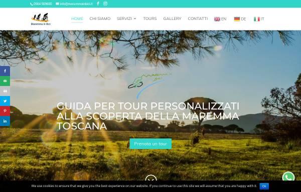 Vorschau von www.maremmainbici.it, Tagesradtouren Toskana