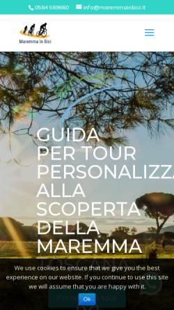 Vorschau der mobilen Webseite www.maremmainbici.it, Tagesradtouren Toskana