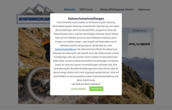 Vorschau von www.mountainbikeurlaub.com, Tourismus Marketing Consulting GbRmbH