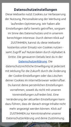 Vorschau der mobilen Webseite www.mountainbikeurlaub.com, Tourismus Marketing Consulting GbRmbH