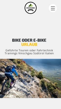 Vorschau der mobilen Webseite www.vinschgaubike.com, VinschgauBike OHG